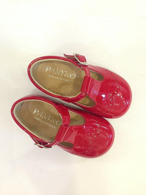 Scarpe bambina ballerine rosse in vernice con plantare