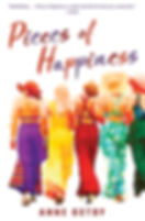 Pieces of Happiness by Anne Ostby, a novel of friendship, hope and chocolate.  This is the cover of the US edition.