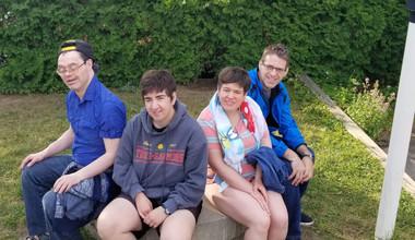 Le groupe du Camp 3-Saumons!
