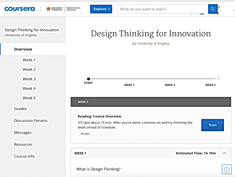 Design Thinking for Innovation Coursera