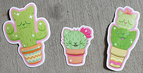Cat-Cus Stickers