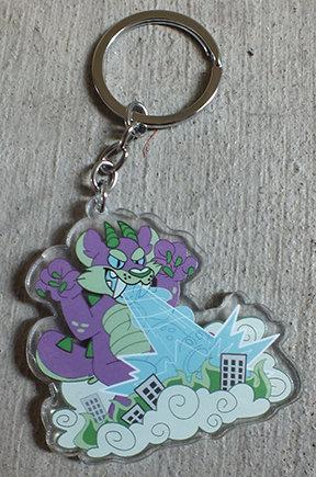 Kaiju Invasion Keychain
