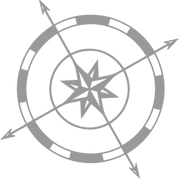 small compass rose gray