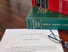 law books and last will testament