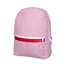 Red Seersucker Backpack by Mint