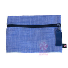 Navy Chambray Cosmo Bag by Mint