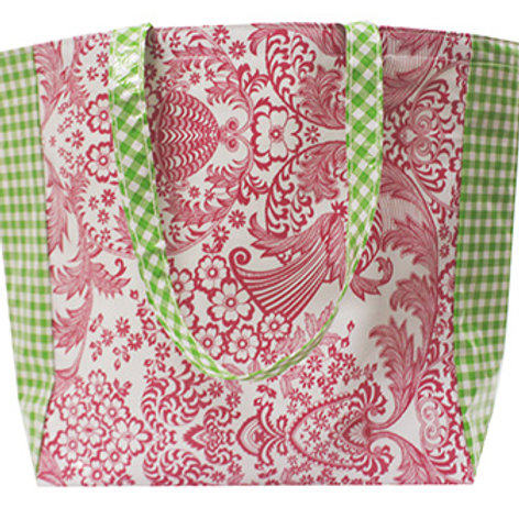 Oilcloth Market Tote -  One Size - Lace Pink