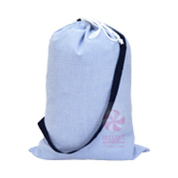 Navy Seersucker Catchall Laundry Bag by Mint