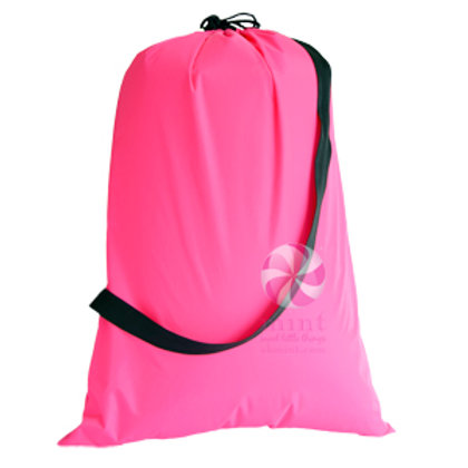 Hot Pink Black Hold All Laundry Bag by Mint