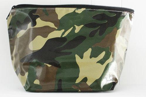Oilcloth Zipper Cosmetic Bag - Mini - Camo