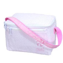 Pink Seersucker Lunch Bag by Mint