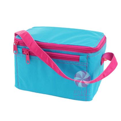 Aqua Hot Pink Lunch Bag by Mint