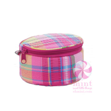 "Popsicle Plaid 6"" Button Bag by Mint"