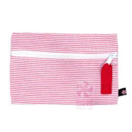 Red Seersucker Cosmo Bag by Mint