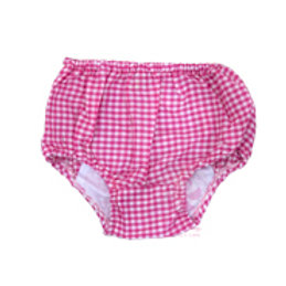 Hot Pink Gingham Bloomers 6-12M by Mint