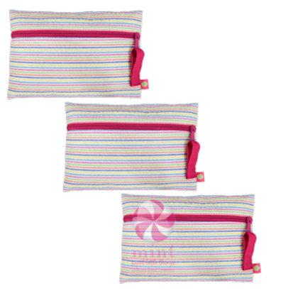 Rainbow Seersucker Cosmo Bag by Mint