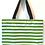 Thumbnail: Oilcloth Large Tote -  Green Stripe