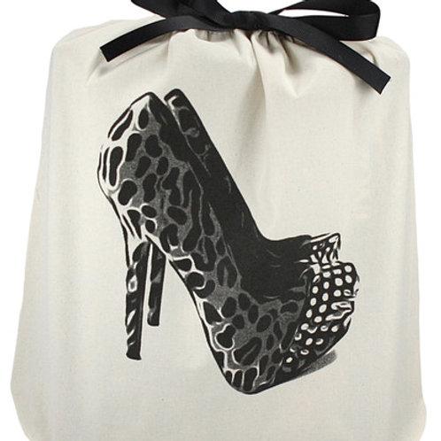 Canvas Leopard Heels Bag