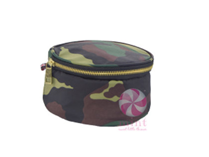 """Camo 6"""" Button Bag by Mint"""