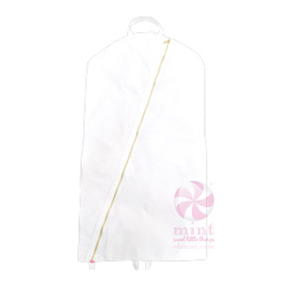 White Seersucker Garment  Bag by Mint