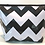 Thumbnail: Zipper Cosmetic Bag - Large - Black Chevron