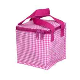 Hot Pink Gingham Snack Square by Mint