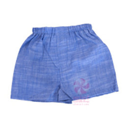 Navy Chambray Seersucker Boxers 6-12M by Mint