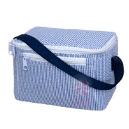 Navy Seersucker Lunch Bag by Mint