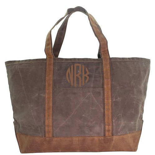 Waxed Canvas Tote by CB Station