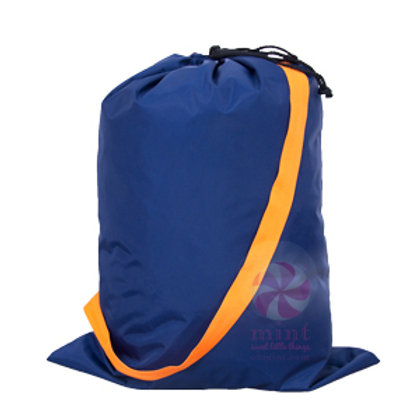 Navy Orange Hold All Laundry Bag by Mint