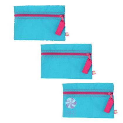 Aqua Hot Pink Cosmo Bag by Mint