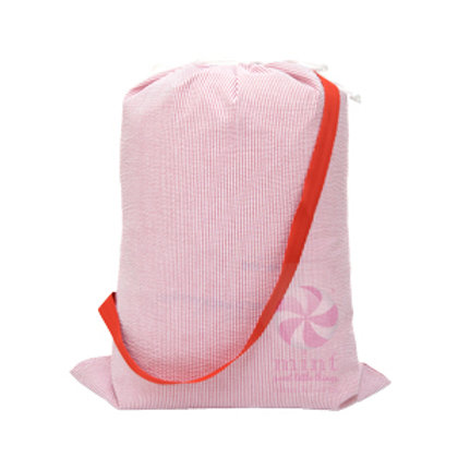 Red Seersucker Catchall Laundry Bag by Mint