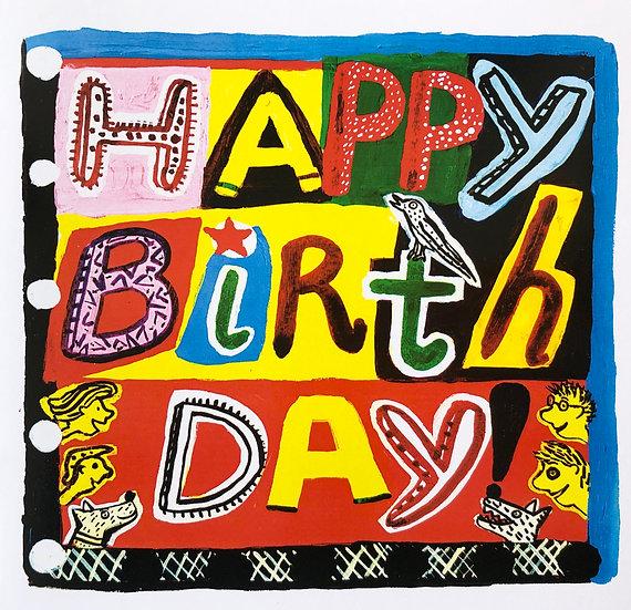 Happy Birthday Card by Jo Lamb