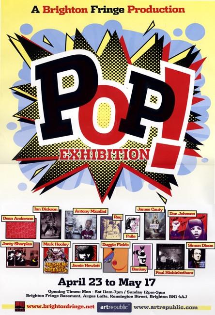 Poster for Pop Exhibition during Brighton Fringe 2004