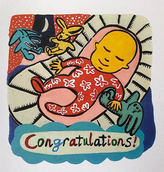 Congratulations Card by Jo Lamb