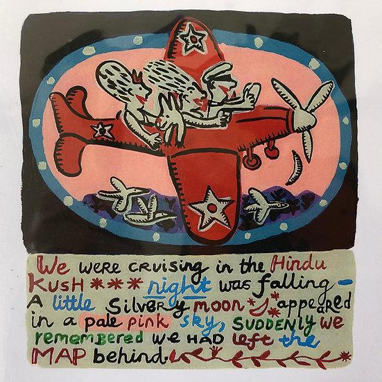We're Cruising the Hindu Kush Card by Jo Lamb
