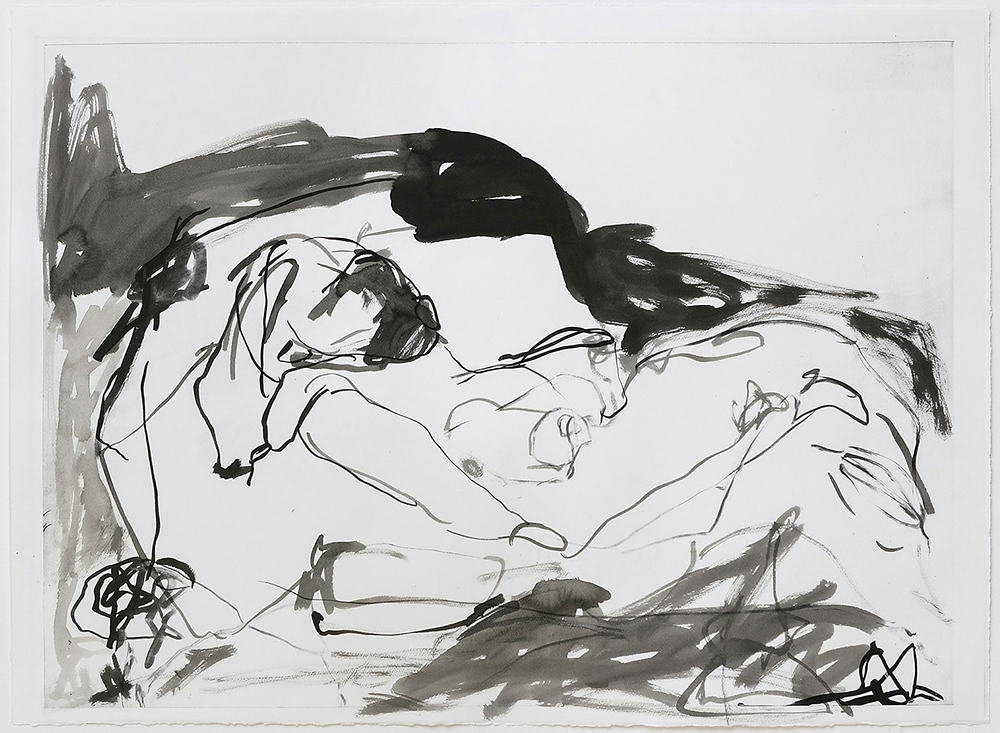 A lithograph with hand colouring by Tracey Emin
