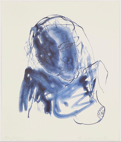 Blue Madonna by Tracey Emin