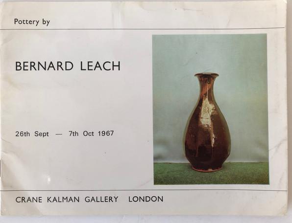 Original Bernard Leach exhibition catalogue