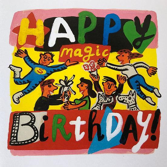 Happy Magic Birthday Card by Jo Lamb