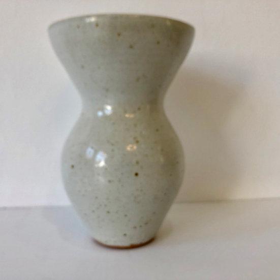 Wide mouthed  celadon vase by Ursula Mommens