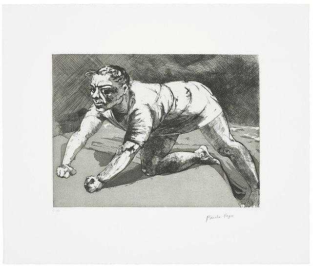 Wary (Dog Woman) by Paula Rego