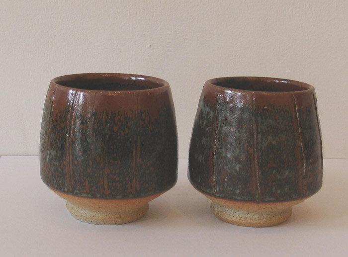 Pair of Tea Bowls 2009 by John Leach