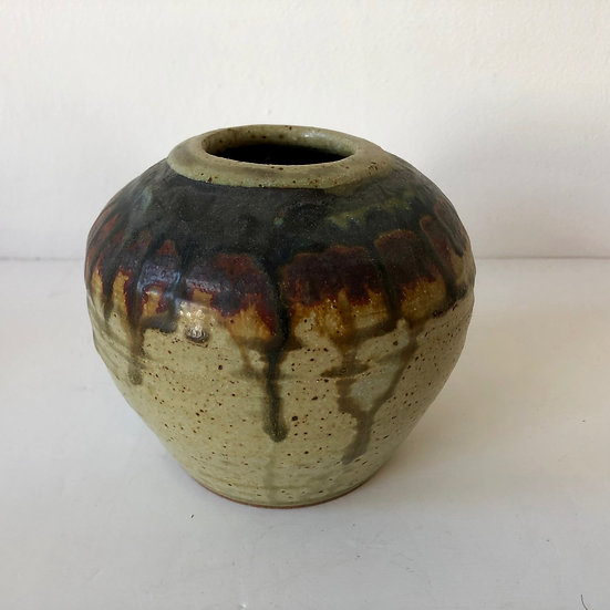 Kinetic stoneware vase by Eric James Mellon