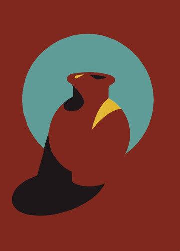 Brown Pot by Patrick Caulfield