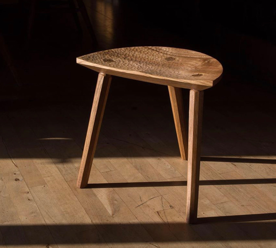 Elm & oak stool
