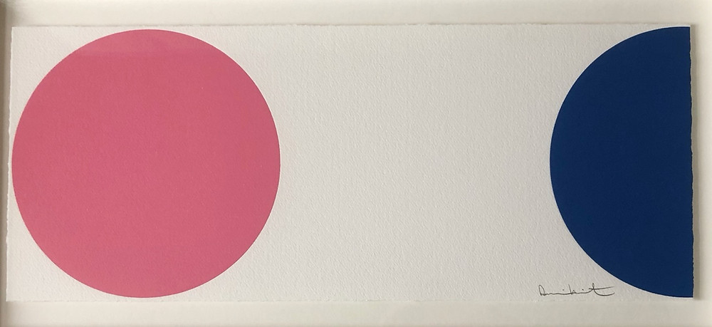 Quinizarin, woodcut by Damien Hirst