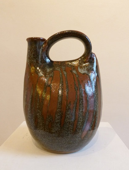 Medium Cross Handled Jug 2012 by John Leach