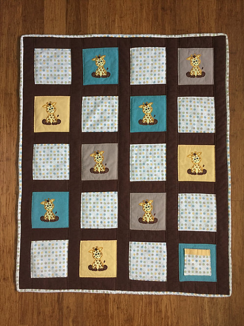 Giraffe Power Animal Protection Quilt