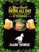 St. Patrick's Day Chicago- DARK HORSE